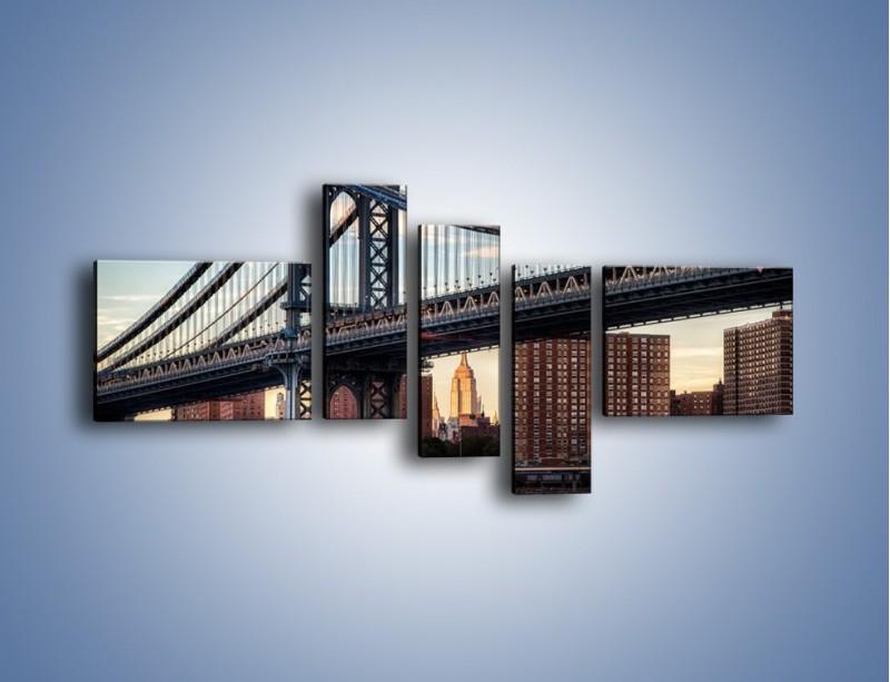 Obraz na płótnie – Manhattan Bridge – pięcioczęściowy AM607W5