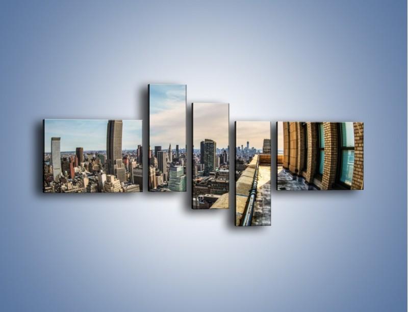 Obraz na płótnie – Empire State Building na Manhattanie – pięcioczęściowy AM610W5