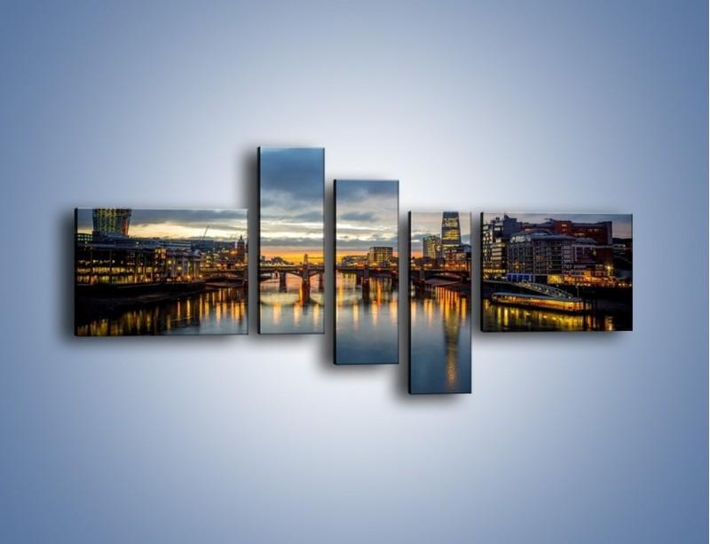 Obraz na płótnie – Millennium Bridge w Londynie – pięcioczęściowy AM651W5