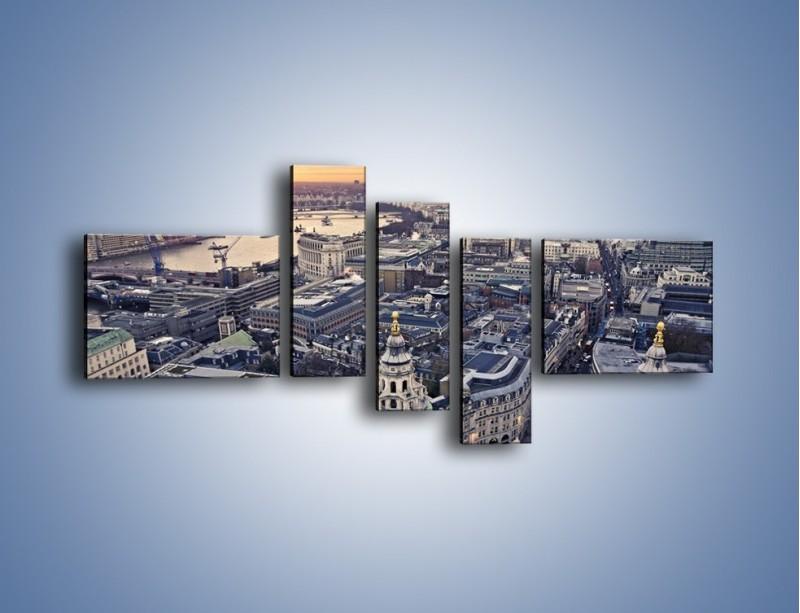 Obraz na płótnie – Widok na Londyn z Katedry św. Pawła – pięcioczęściowy AM652W5