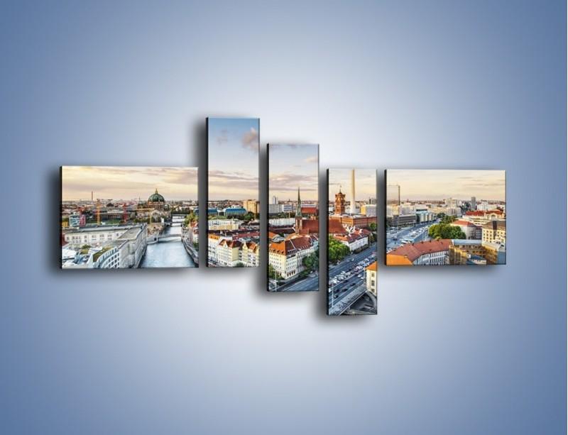 Obraz na płótnie – Panorama Berlina – pięcioczęściowy AM673W5