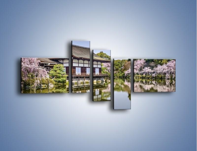 Obraz na płótnie – Świątynia Heian Shrine w Kyoto – pięcioczęściowy AM677W5
