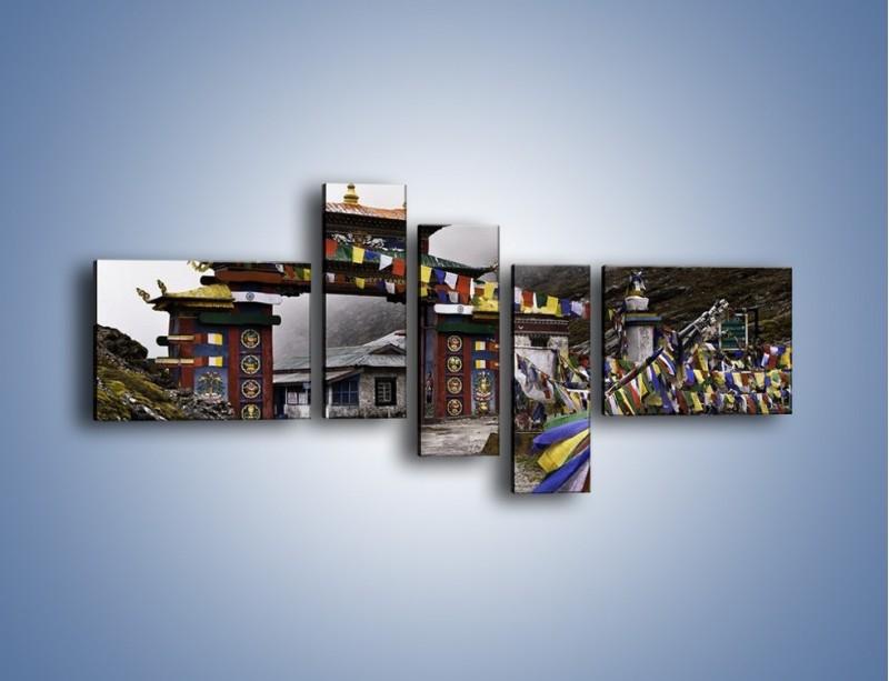 Obraz na płótnie – Brama do miasta Tawang w Tybecie – pięcioczęściowy AM689W5