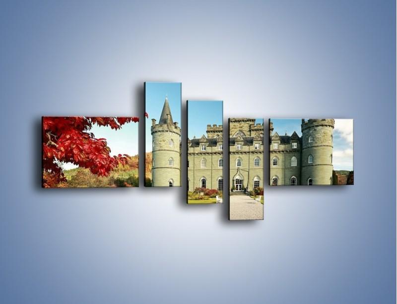 Obraz na płótnie – Zamek Inveraray w Szkocji – pięcioczęściowy AM691W5