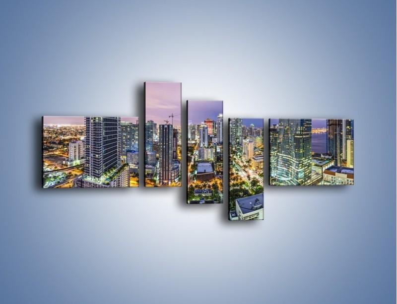 Obraz na płótnie – Centrum Miami – pięcioczęściowy AM702W5