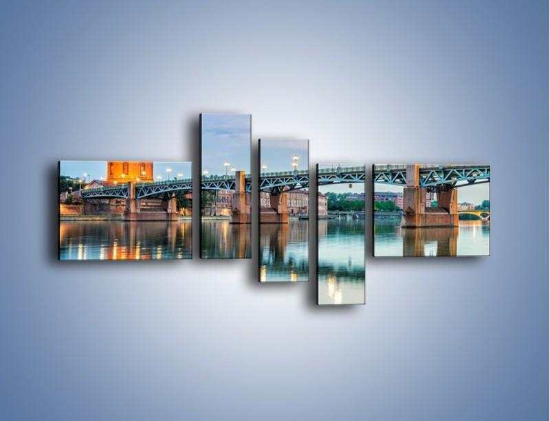 Obraz na płótnie – Most Saint-Pierre w Tuluzie – pięcioczęściowy AM721W5