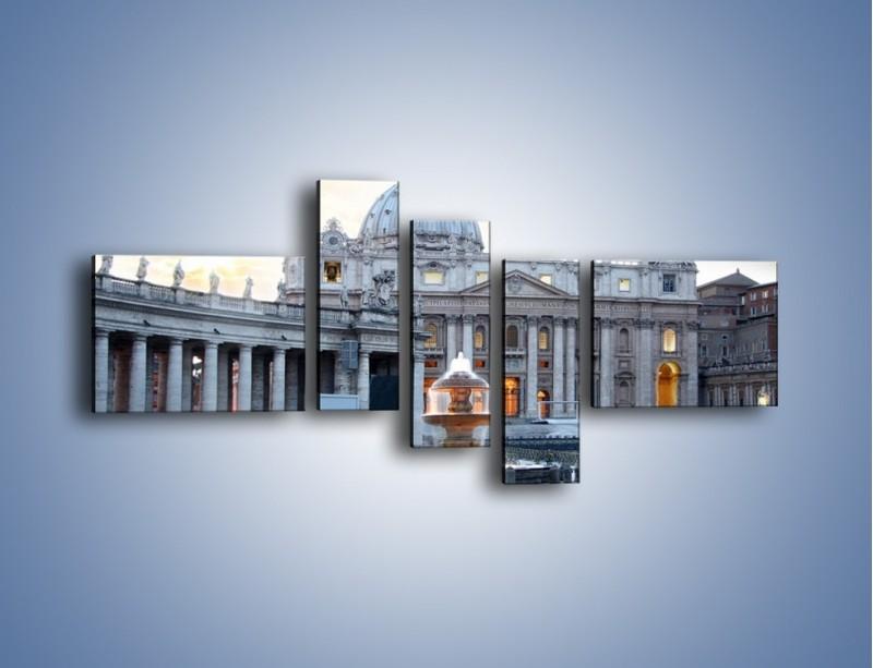 Obraz na płótnie – Bazylika św. Piotra w Watykanie – pięcioczęściowy AM722W5