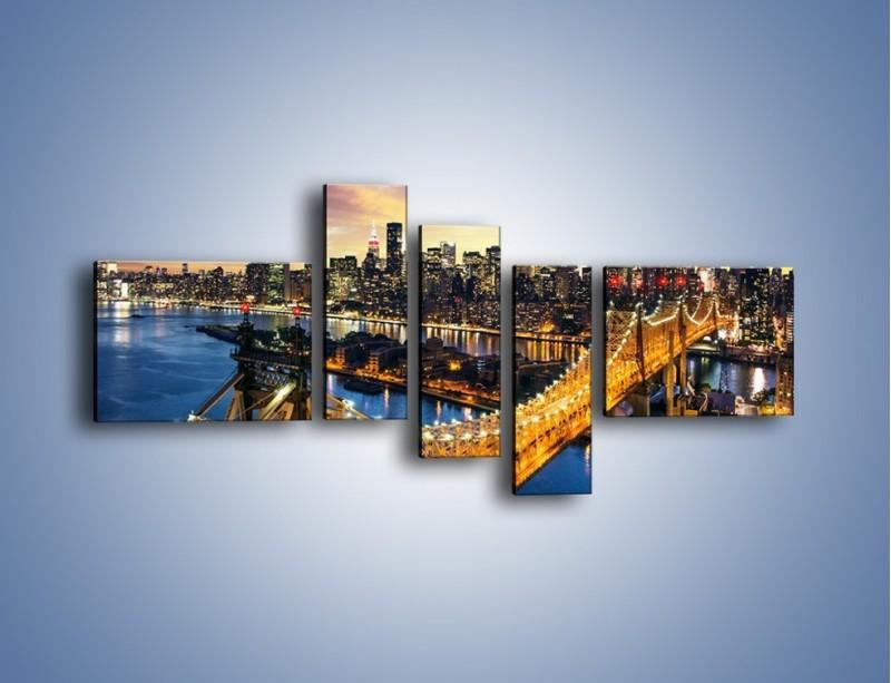 Obraz na płótnie – Queensboro Bridge w Nowym Yorku – pięcioczęściowy AM768W5