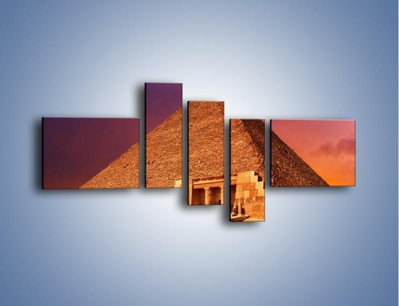 Obraz na płótnie – Piramida w Egipcie – pięcioczęściowy AM812W5