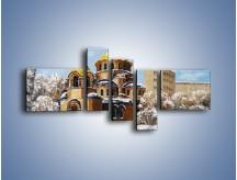 Obraz na płótnie – Cerkiew w trakcie zimy – pięcioczęściowy GR024W5