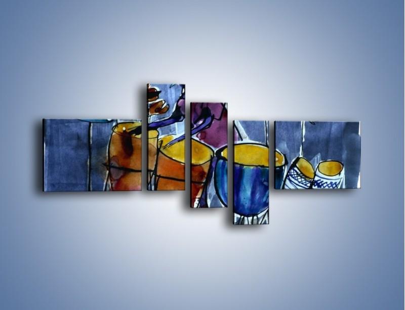 Obraz na płótnie – Gorące rytmy wybite na bębnach – pięcioczęściowy GR070W5