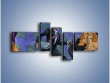 Obraz na płótnie – Dużym krokiem przez świat – pięcioczęściowy GR081W5