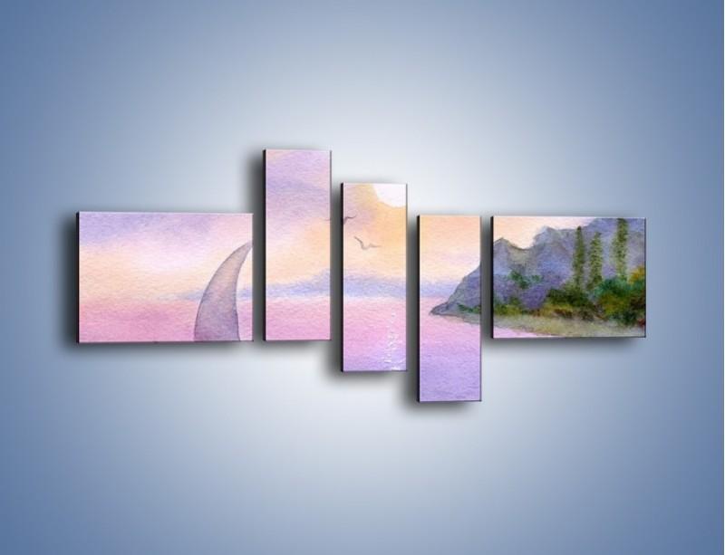 Obraz na płótnie – Uroki jesiennej pory – pięcioczęściowy GR096W5