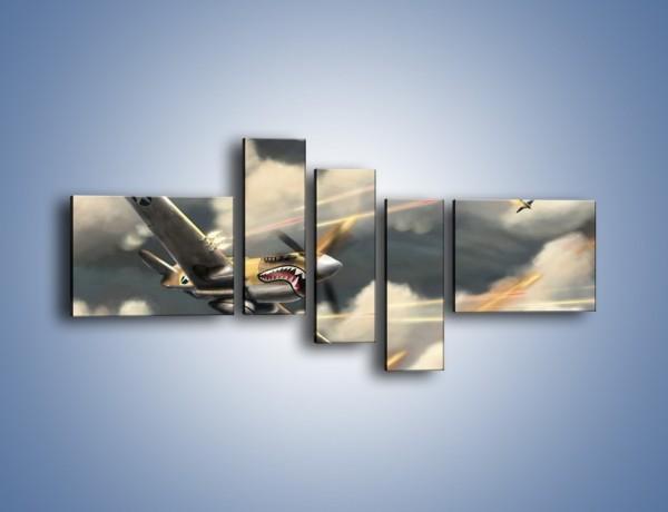 Obraz na płótnie – Samolotem w stronę słońca – pięcioczęściowy GR123W5