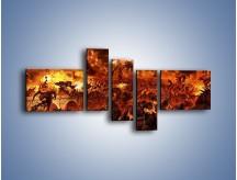 Obraz na płótnie – Bitwa z demonami – pięcioczęściowy GR137W5