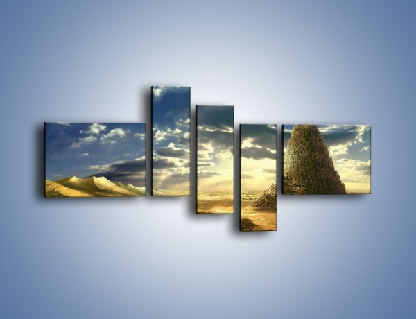 Obraz na płótnie – Przez górę aż do chmur – pięcioczęściowy GR139W5