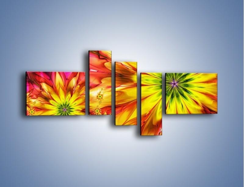 Obraz na płótnie – Moc w kwiecie – pięcioczęściowy GR243W5