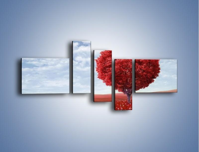 Obraz na płótnie – Polaną w stronę miłości – pięcioczęściowy GR249W5