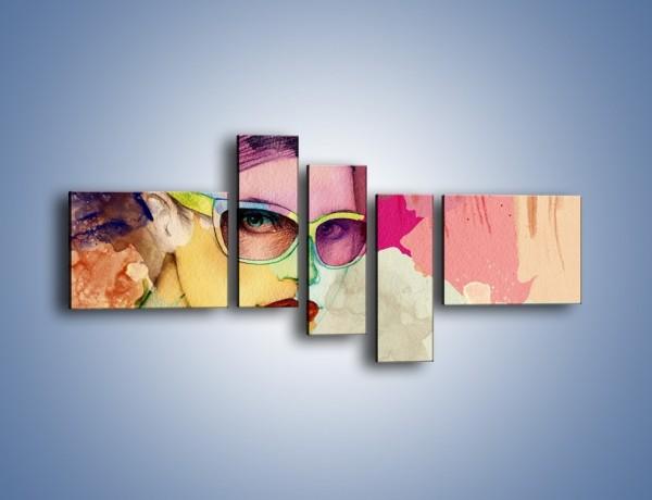 Obraz na płótnie – Okulary idealnie dopasowane – pięcioczęściowy GR327W5