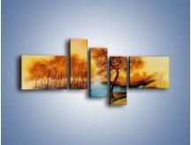 Obraz na płótnie – Drzewa nad samą wodą – pięcioczęściowy GR352W5