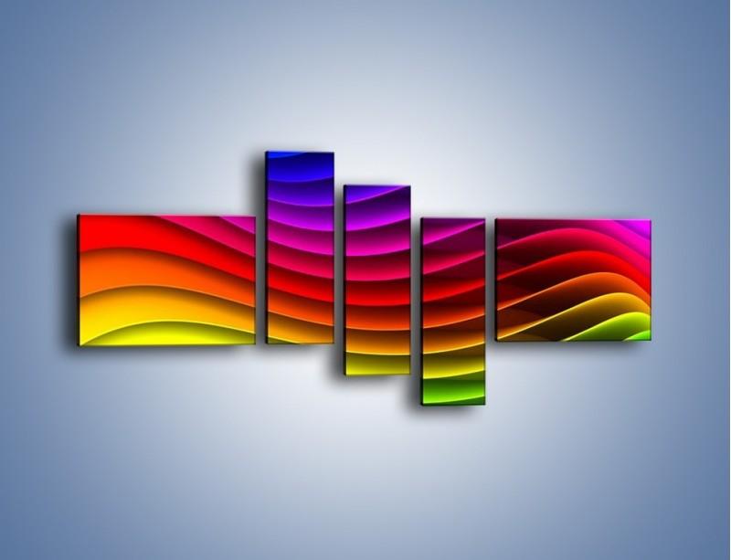 Obraz na płótnie – Falą w kolorze – pięcioczęściowy GR393W5