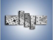 Obraz na płótnie – Budynki z klocków – pięcioczęściowy GR410W5