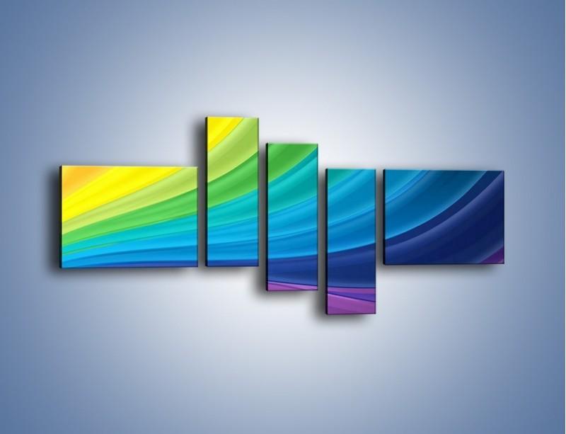 Obraz na płótnie – Zachowane kolory tęczy – pięcioczęściowy GR424W5
