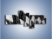 Obraz na płótnie – Czarne czy białe – pięcioczęściowy GR425W5