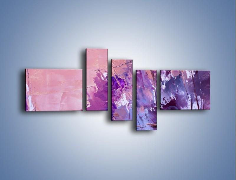 Obraz na płótnie – Mocna barwa fioletu – pięcioczęściowy GR472W5