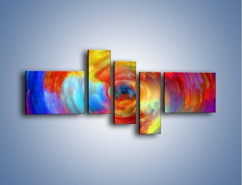 Obraz na płótnie – Kolorowy wir – pięcioczęściowy GR502W5