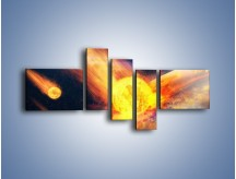 Obraz na płótnie – Atak kula ognia – pięcioczęściowy GR532W5