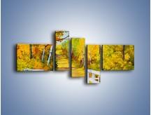 Obraz na płótnie – Alejką w słoneczna jesień – pięcioczęściowy GR540W5