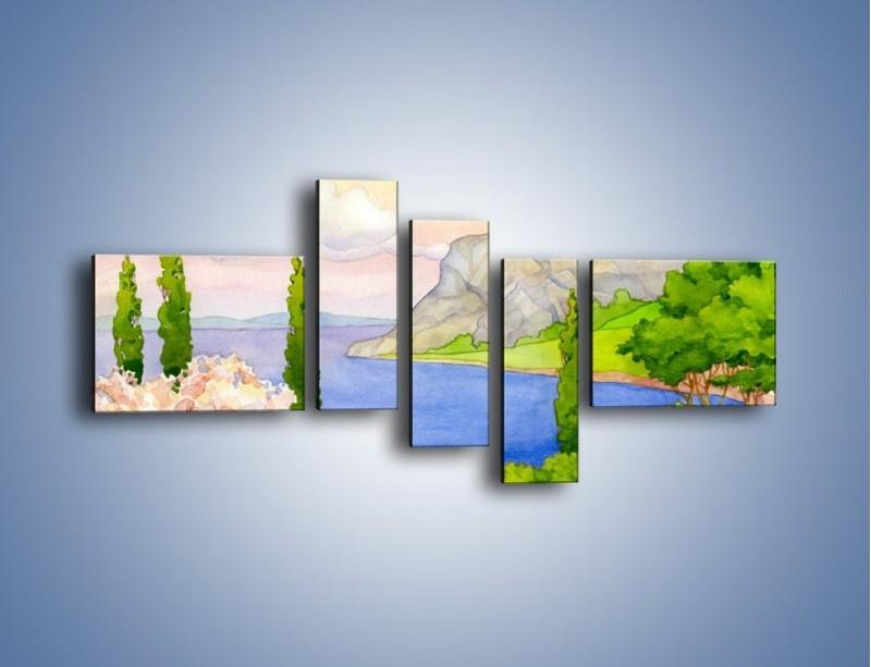 Obraz na płótnie – Krajobraz jak z pocztówki – pięcioczęściowy GR541W5