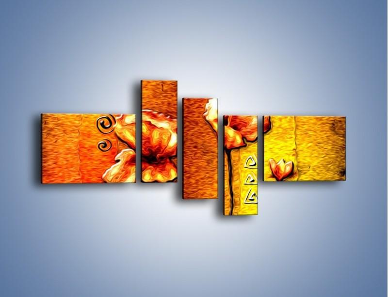 Obraz na płótnie – Maki z dodatkami – pięcioczęściowy GR574W5