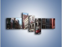 Obraz na płótnie – Codzienne życie na kubie – pięcioczęściowy GR627W5