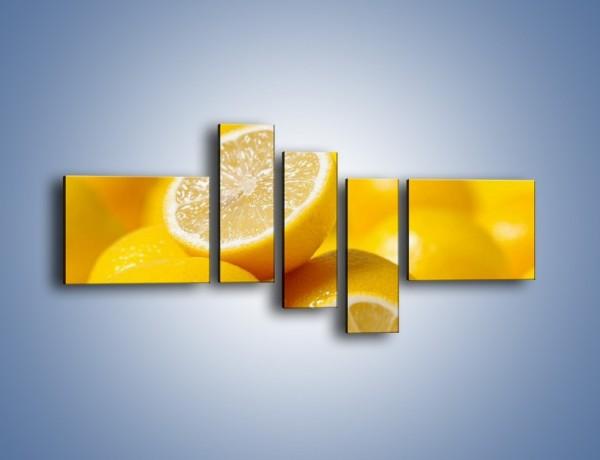 Obraz na płótnie – Kwaśne soczyste cytrynki – pięcioczęściowy JN031W5