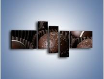 Obraz na płótnie – Czekoladowe praliny w foremkach – pięcioczęściowy JN040W5