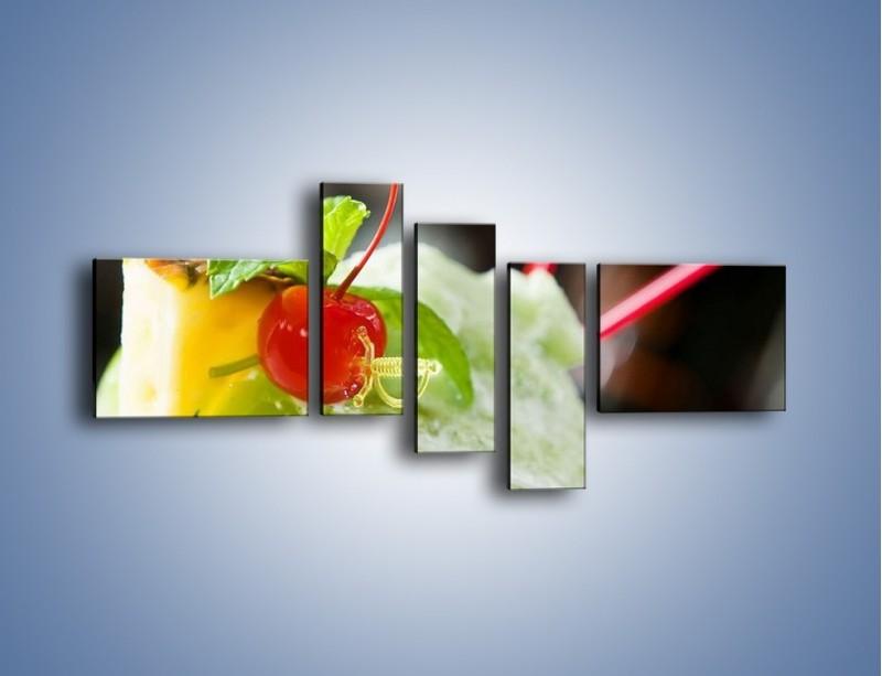 Obraz na płótnie – Owocowy sorbet – pięcioczęściowy JN055W5