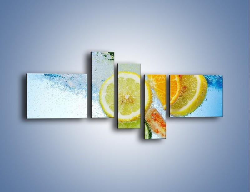 Obraz na płótnie – Zatopione plastry owoców – pięcioczęściowy JN057W5