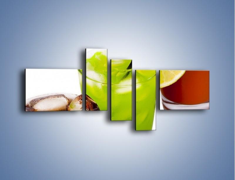 Obraz na płótnie – Kwaśno-słodkie drinki – pięcioczęściowy JN093W5