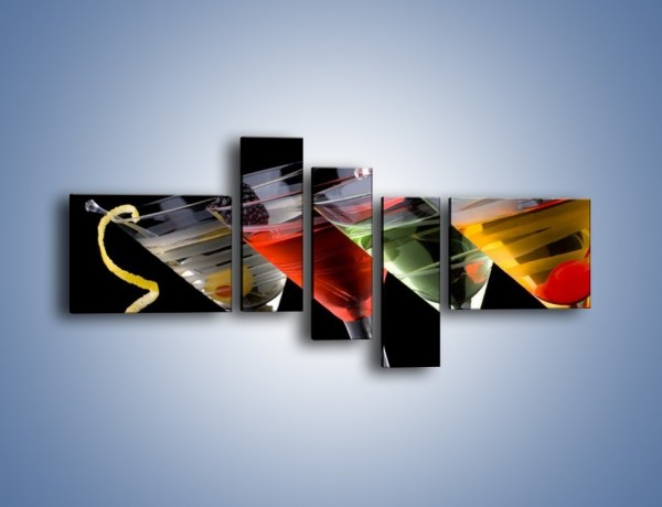 Obraz na płótnie – Alkoholowa zabawa do rana – pięcioczęściowy JN100W5