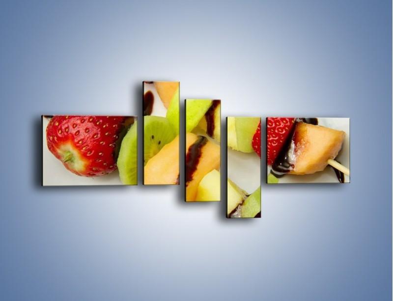 Obraz na płótnie – Czekoladowo-owocowe szaszłyki – pięcioczęściowy JN112W5