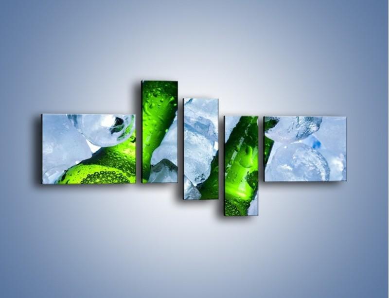 Obraz na płótnie – Czas na zimne piwko – pięcioczęściowy JN148W5