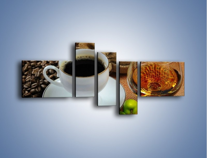 Obraz na płótnie – Wieczorowa kawa z prądem – pięcioczęściowy JN166W5