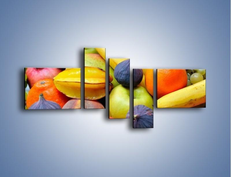 Obraz na płótnie – Owocowe kolorowe witaminki – pięcioczęściowy JN173W5