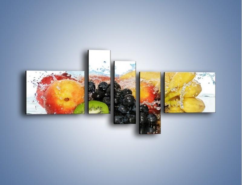 Obraz na płótnie – Owocowe nuty skąpane w wodzie – pięcioczęściowy JN176W5