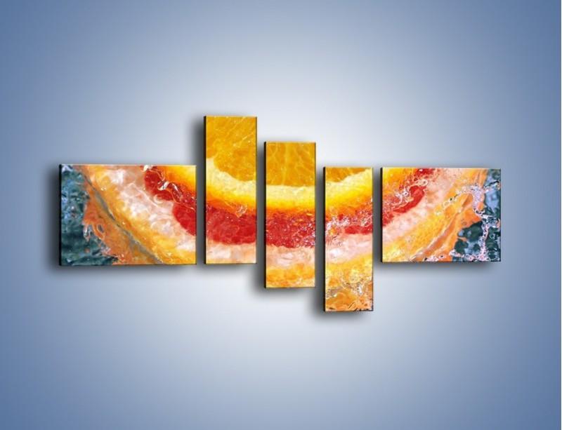 Obraz na płótnie – Cytrusowe trio – pięcioczęściowy JN177W5