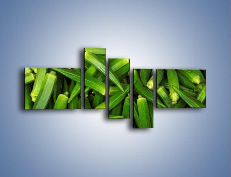 Obraz na płótnie – Warzywna egzotyka – pięcioczęściowy JN191W5