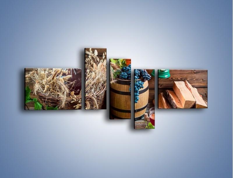 Obraz na płótnie – Wino według własnego przepisu – pięcioczęściowy JN202W5