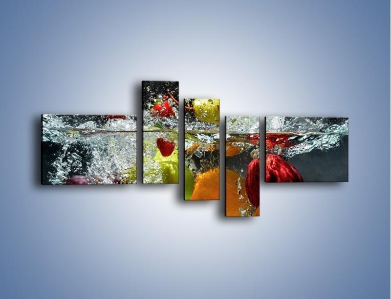 Obraz na płótnie – Głębokie owocowe zanurzenie – pięcioczęściowy JN253W5